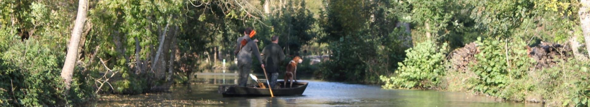 chasseurs à l'arc dans le marais poitevin